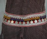 Cinturón afgano burdeos