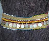 Cinturón afgano salmón monedas grandes