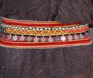 Cinturón afgano fucsia