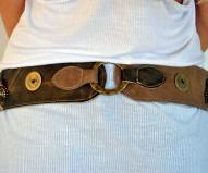 Cinturón piel metalizado