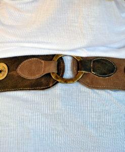 Cinturón piel dorado Ibiza