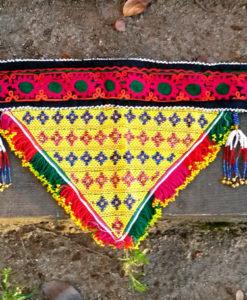 Cinturón étnico amarillo Ibiza Trendy las dalias