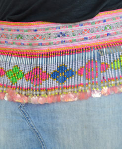 Cinturon etnico boho chic bolitas colores ibiza trendy