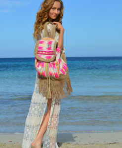 Mochila boho chic fluor Ibiza Trendy