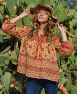 boho-chic-indian-peasant-blouse-red-ibiza-trendy