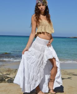 Free Love Ibiza asymmetrical skirt