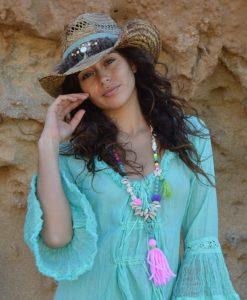 Sombrero cowboy Ibiza Trendy turquesa