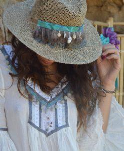 Sombrero paja ala plana Ibiza
