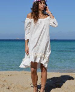 White boho blouse Kailash Ibiza