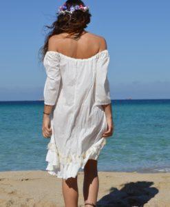 White boho blouse Kailash back