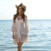 Boho white tunic dress las Dalias Ibiza Fioroni