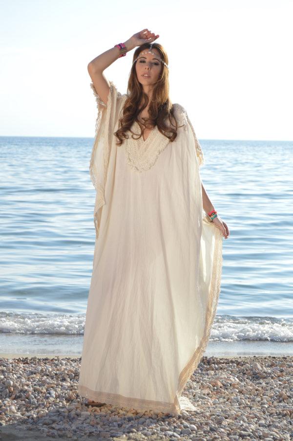 Chilaba boho de Ibiza las Dalias Tony Bonet moda Adlib