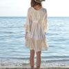 Tiendao online Ibiza  Vestido blanco de las dalias con pompones Fioroni espalda