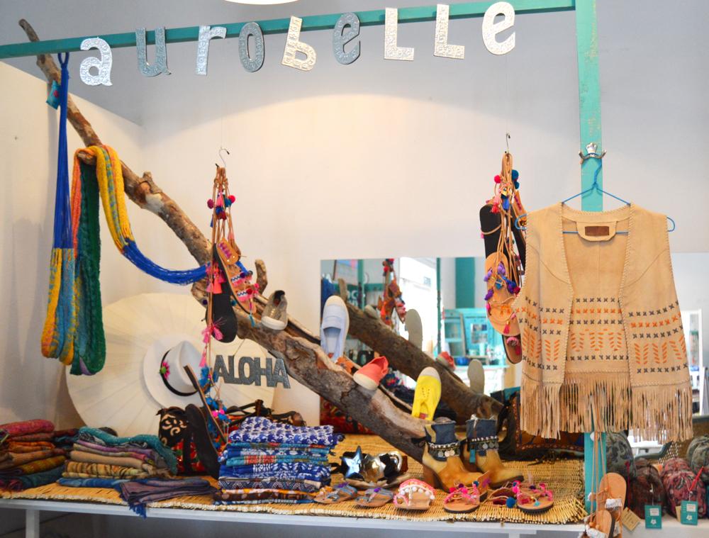 Aurobelle leather vest boho chic Ibiza
