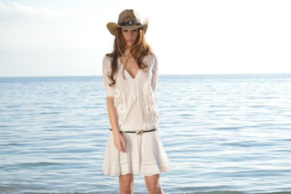 Detalle vestido boho conchos Ibiza by Tony Bonet