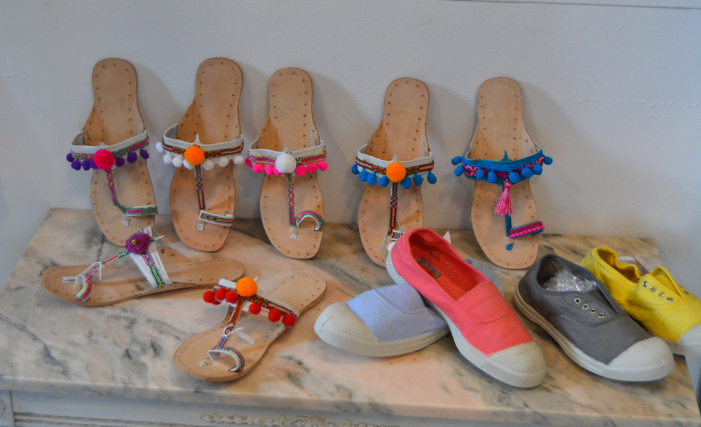 Pom pom sandals Aurobelle Ibiza