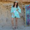 Bluson ibicenco turquesa Ibiza Dreams Fioroni Collection Dalias