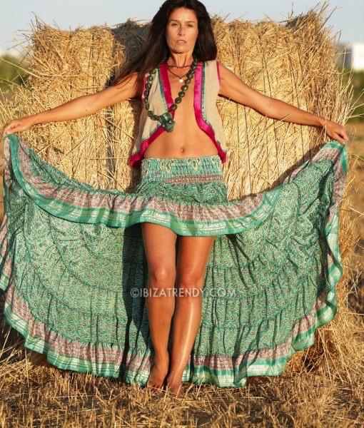 Free Love Ibiza Hippie Skirt In Green Ibiza Trendy Tienda Online Online Store
