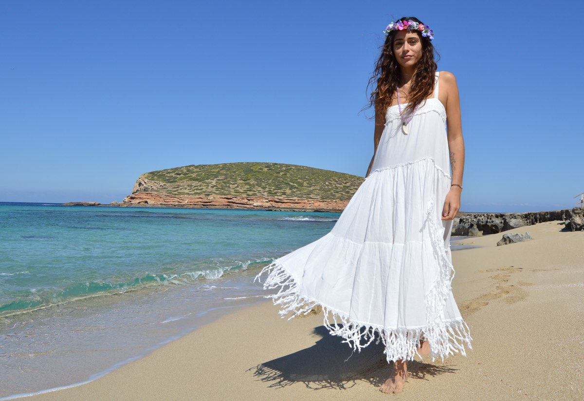 Tony Bonet Vestido Blanco Ibicenco Largo Tirantes 3 Ibiza Trendy - Vestido-blanco-largo-ibicenco