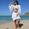 mini falda adlib y crop top blanco Tony Bonet Ibiza Trendy
