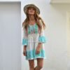 Boho dress blue lace Fioroni collection