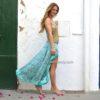 Falda asimetrica turquesa Free Love Ibiza 2017-2