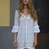 Vestido borlas blanco boho chic fironi Ibiza-2