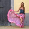falda rosa ibicenca Free Love Ibiza Trendy-1