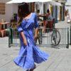 Blue boho maxi pasley dress Ibiza Trendy style