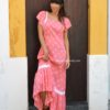 Laura dress in coral pink Ibiza Trendy boho chic