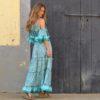 Turquoise boho dress Ibiza Sarah K-3