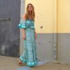 Turquoise boho dress sara k ibiza trendy-3