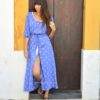 Vestido boho pasley azul ibiza Trendy