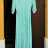 Vestido pasley azul turquesa Ibiza Trendy apertura delantera