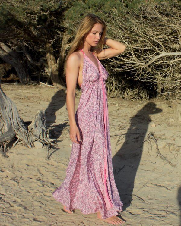Fotos vestido ibiza beach rosa