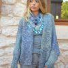 Izuskan mini scarf in blue arabic