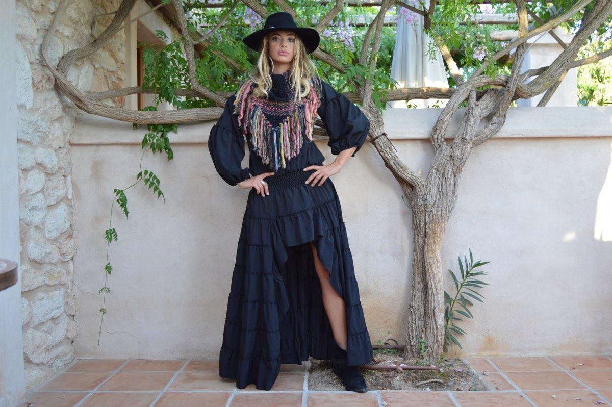 31d5529dbf8ba Vestido asimetrico invierno Free Love Ibiza Trendy · winter boho dress ...