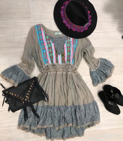 Vestido gris tienda online ibiza