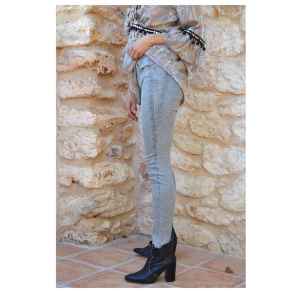 jeans print de serpiente en gris Ibiza