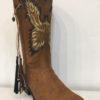 Boho boots handpainted Ibiza Trendy Eagle 2
