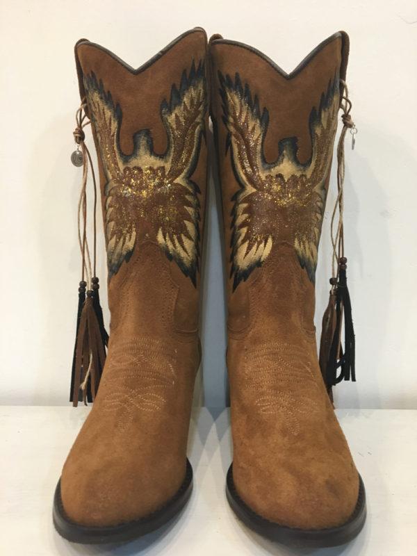 Cowboy boots Eagle handpainted Ibiza Trendy