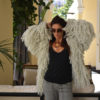 Shaggy jacket real cotton ibiza trendy