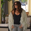 chaqueta flecos blanco roto Ibiza Trendy peluda