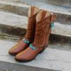 botas cowgirl decoracion turquesa