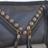 detalles bolso negro piel leather Olga Payro dalias ibiza