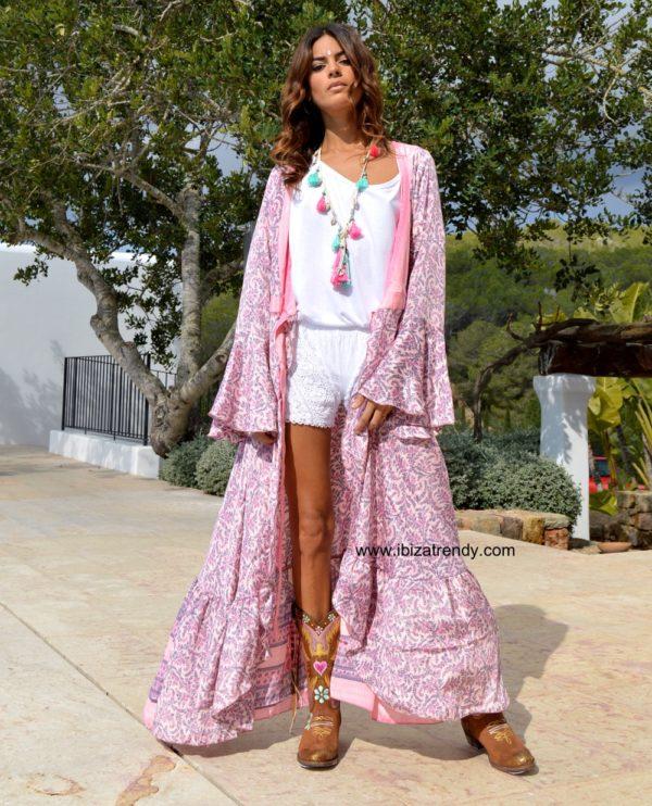 kimono rosa free love ibiza trendy