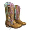 Boho handpainted boots Lola Guarch Ibiza Trendy