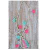 Collar borlas turquesa y rosa ibiza trendy