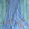 Long wrap skirt in blue boho chic Ibiza