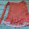 Mini falda estampado rojo ibiza